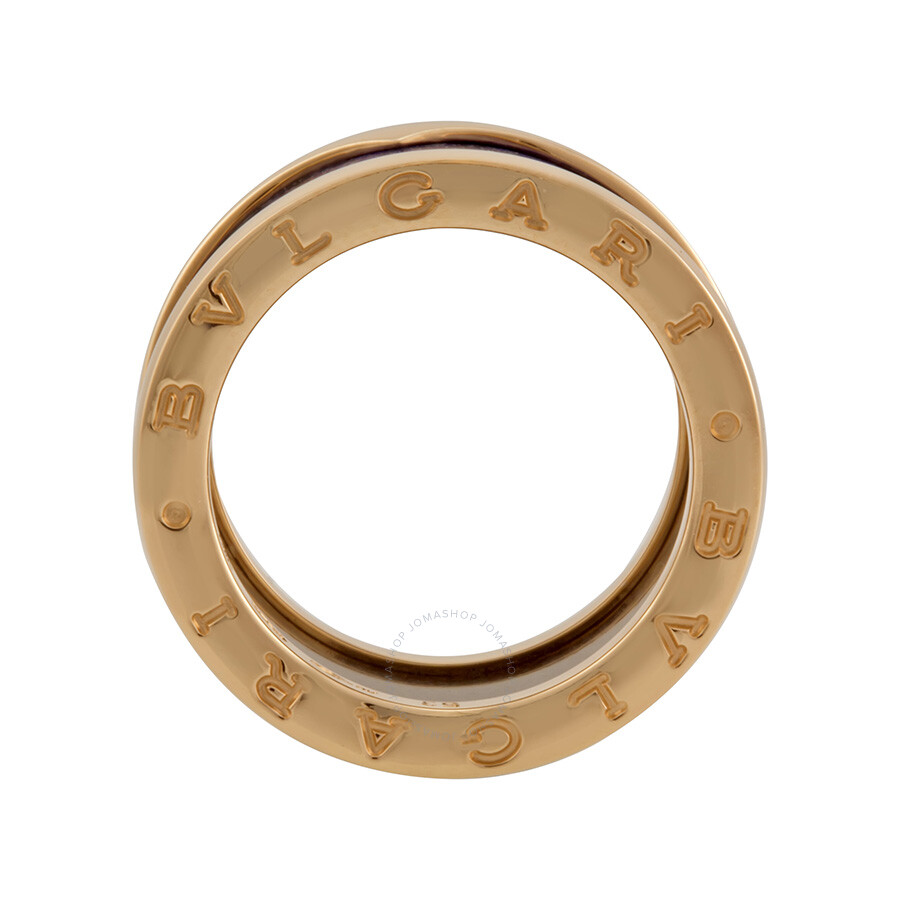 bvlgari bzero1 18kt pink gold and blue marble ring size 53