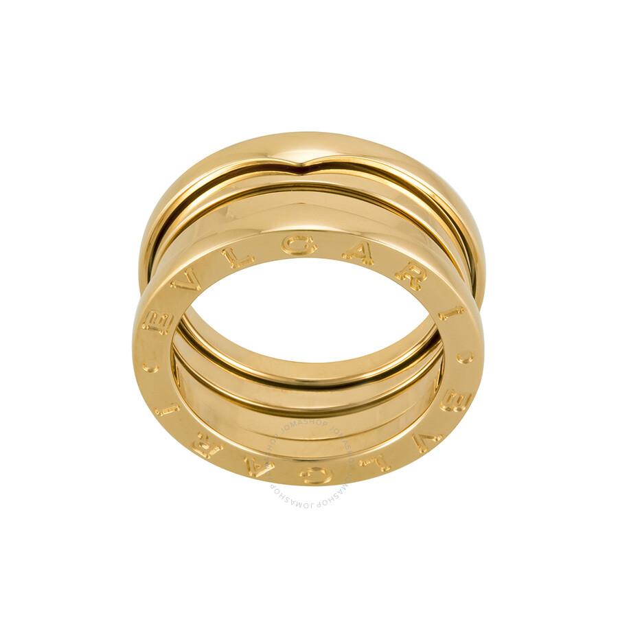 bvlgari bzero1 18kt rose gold 3band ring size 6 an852405