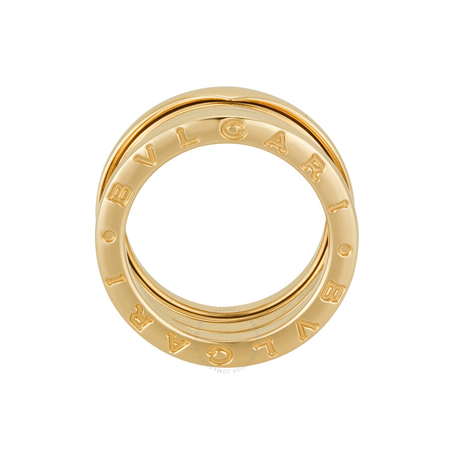 Bvlgari B Zero1 18kt Rose Gold 3 Band Ring Size 6 An852405