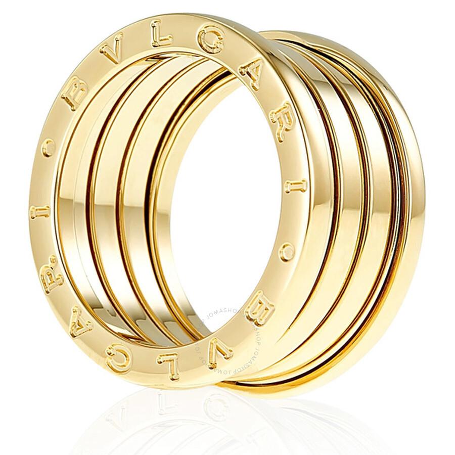 bvlgari bzero1 4band 18k yellow gold ring an191025