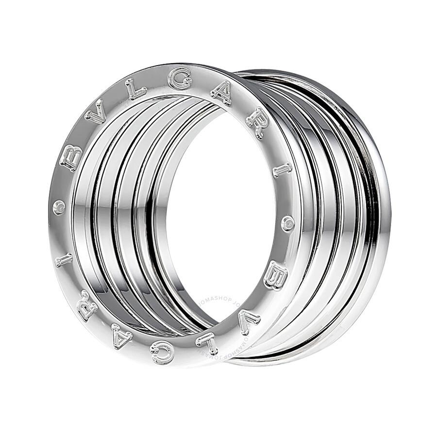 bvlgari b zero1 5 band 18k white gold ring 323582