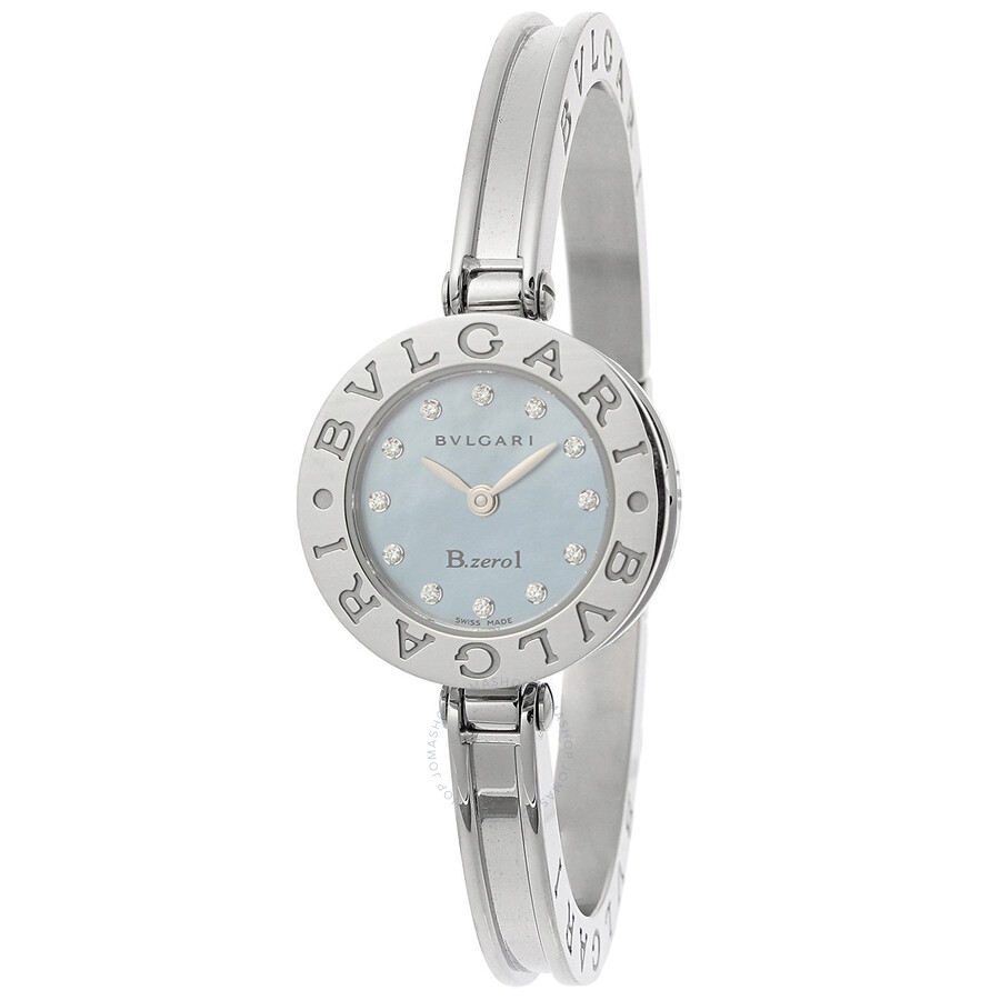 Pearl Dial Stainless Steel Bangle