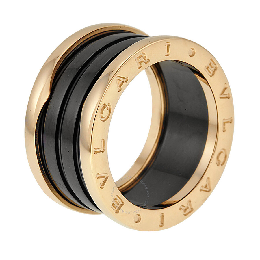 Bvlgari BZero1 Four Band 18 kt Rose Gold and Black Ceramic Ladies
