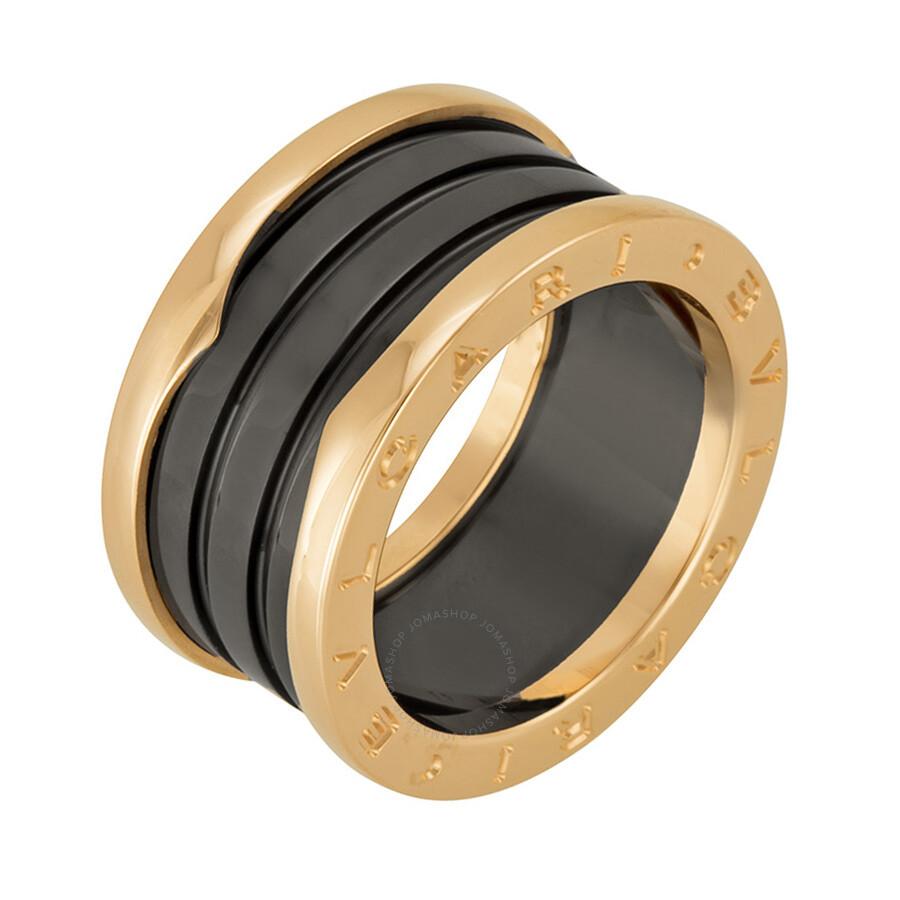 bvlgari b zero1 four band 18 kt rose gold and black ceramic las