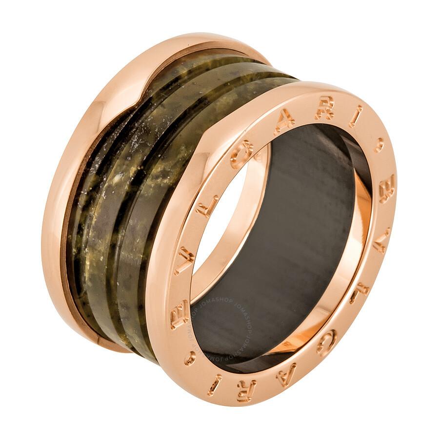 Bvlgari Rose Gold Marble Ring