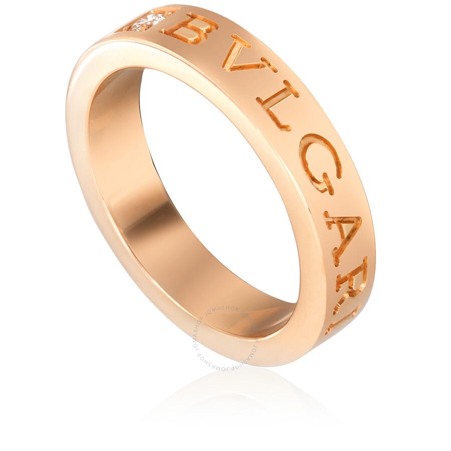 Bvlgari Bvlgari 18k Pink Gold Diamond Ring Size 5 75 Bvlgari