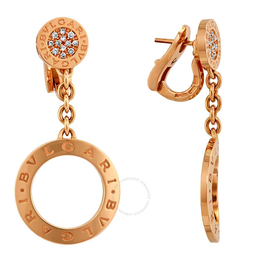 Bvlgari 18k Rose Gold Earrings 343402