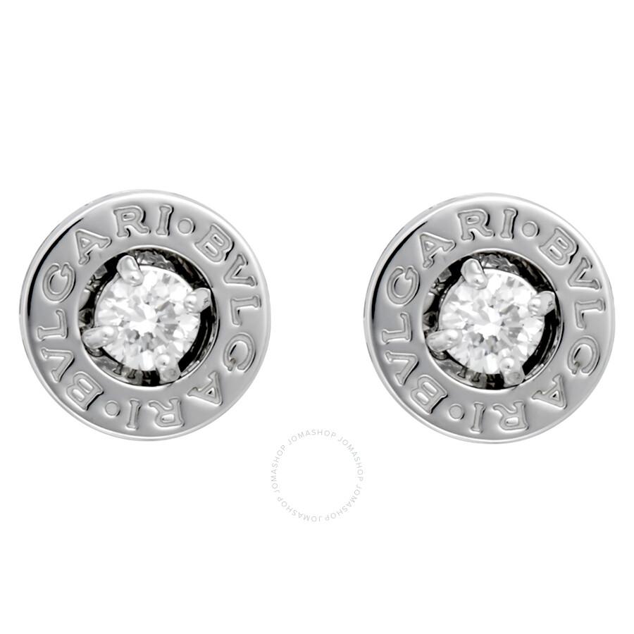 ae06dbb14 Bvlgari Bvlgari 18K White Gold Diamond Stud Earrings 325551 ...
