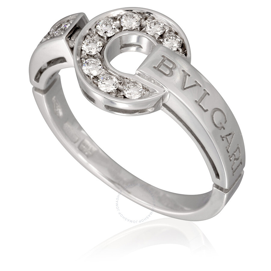 bvlgari bvlgari 18k white gold pave diamond ring size 7 bvlgari create an account images