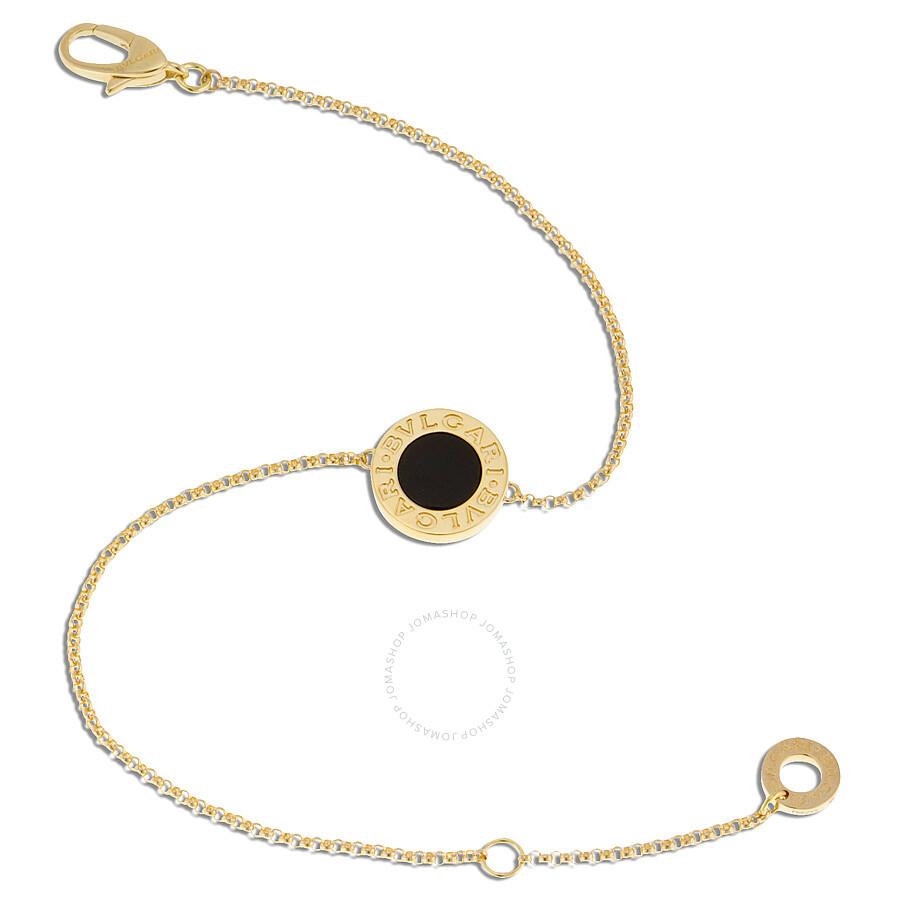 Bvlgari 18k Yellow Gold Onyx Bracelet 350551
