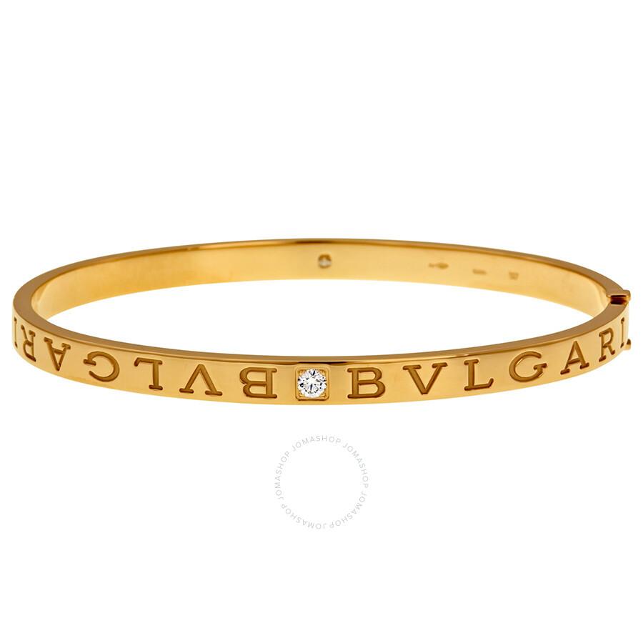 Bvlgari Bvlgari 18kt Pink Gold Diamond Bangle - Large - Bvlgari ...