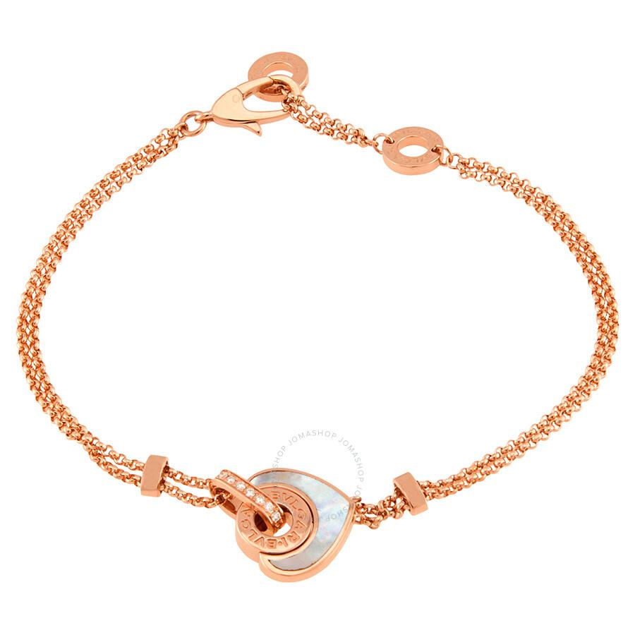 Bvlgari Bvlgari Bvlgari Cuore 18 K Rose Gold Bracelet S/M by Bvlgari