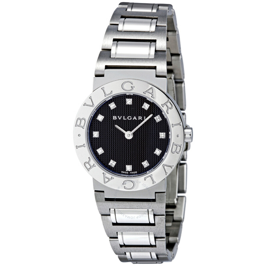 Bvlgari bvlgari bvlgari black stainless steel ladies watch bb26bss 12n bvlgari bvlgari for Bvlgari watches