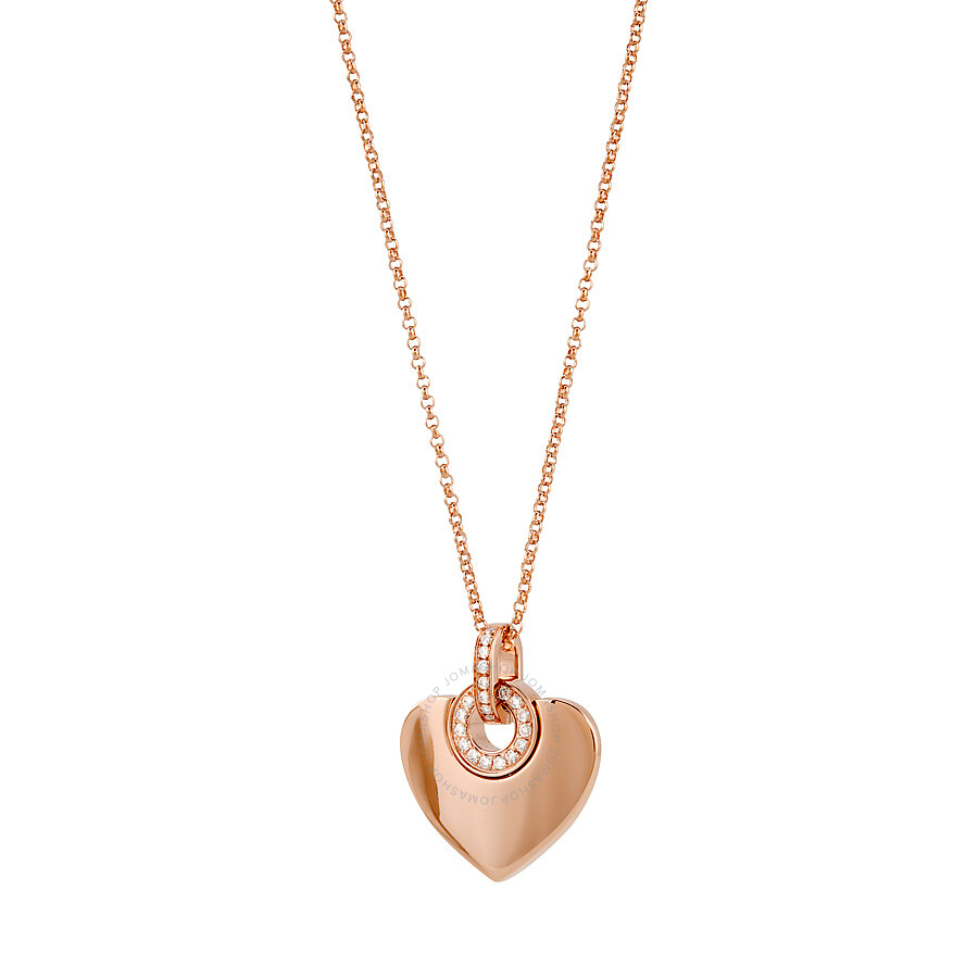 41ab502a ... Bvlgari Bvlgari Cuore 18K Pink Gold Diamond Pendant and Chain Necklace  350787 ...