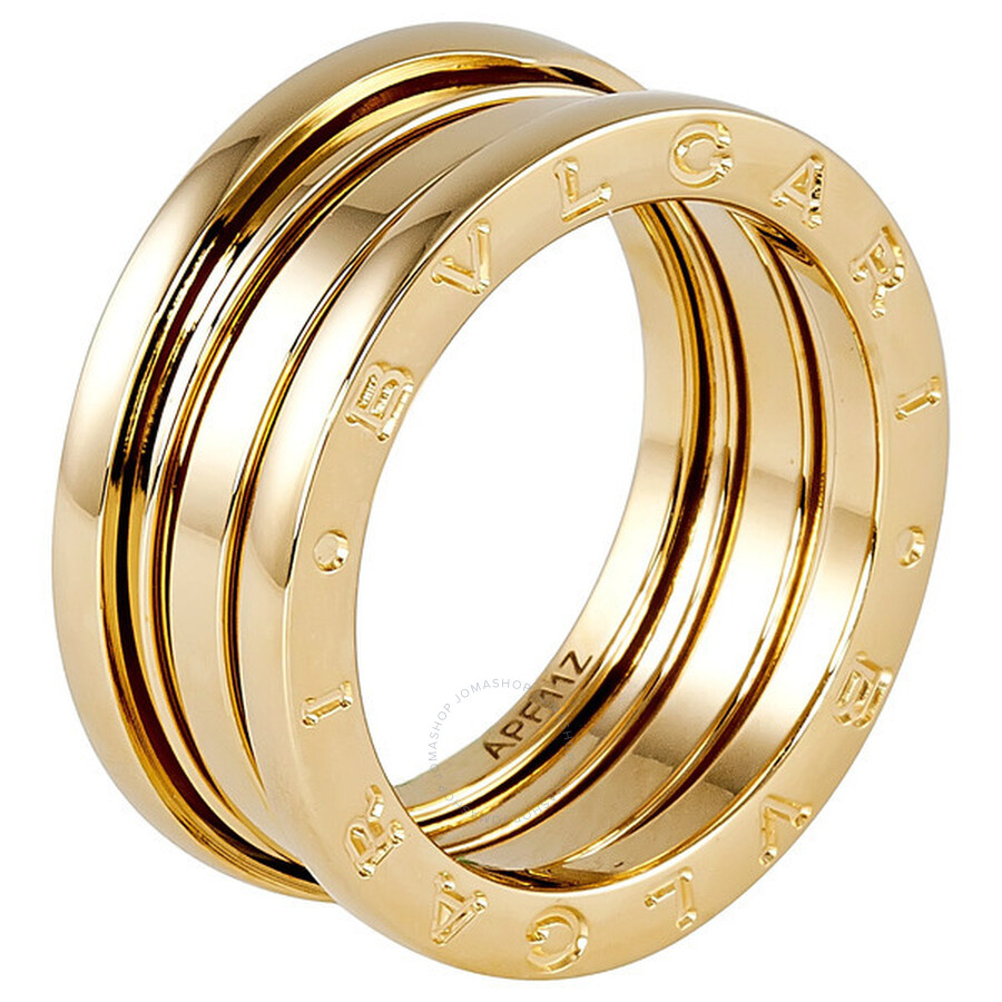 Bvlgari B zero1 3 Band Gold Ring in US Size 7 1 4 Bvlgari