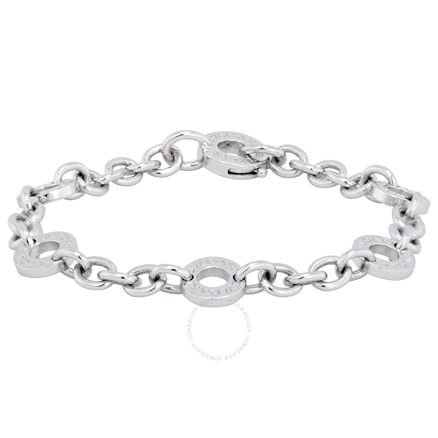 bvlgari charms 18kt white gold small charm bracelet 335695