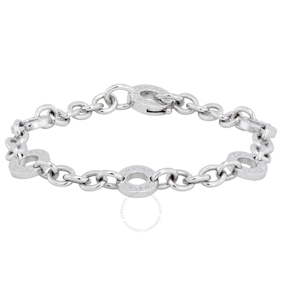 bvlgari charms 18kt white gold small charm bracelet 335695