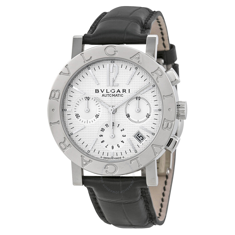 Bvlgari chronograph stainless steel men 39 s watch bb38wsldch n bvlgari bvlgari bvlgari for Bvlgari watches
