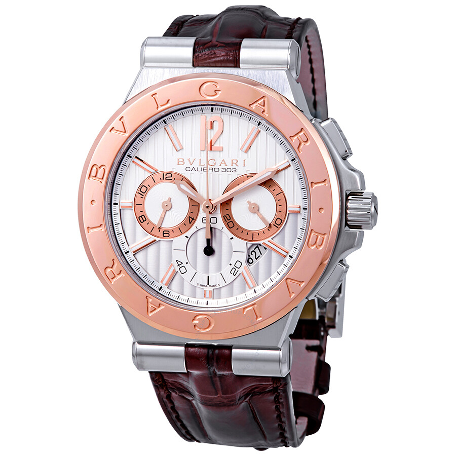 Bvlgari diagono automatic chronograph men 39 s watch 101879 diagono bvlgari watches jomashop for Bvlgari watches