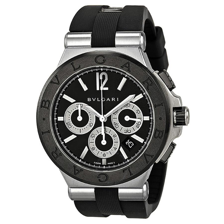 bvlgari diagono chronograph automatic black dial men s watch bvlgari diagono chronograph automatic black dial men s watch dg42bscvdch