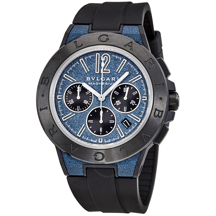 Bvlgari diagono chronograph automatic blue dial men 39 s watch 102304 diagono bvlgari watches for Bvlgari watches