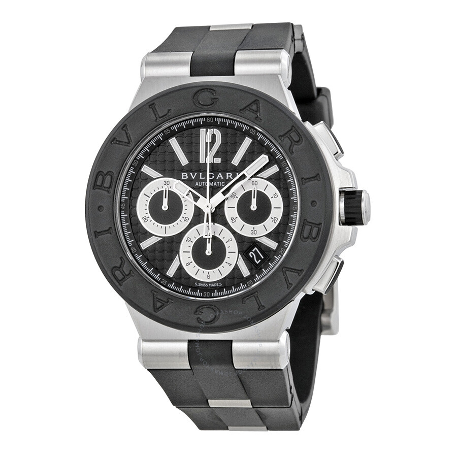 Bvlgari diagono chronograph men 39 s watch dg42bsvdch diagono bvlgari watches jomashop for Bvlgari watches