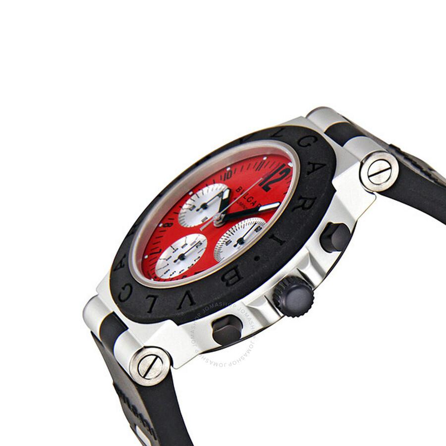 bvlgari diagono red dial chronograph menu0027s watch