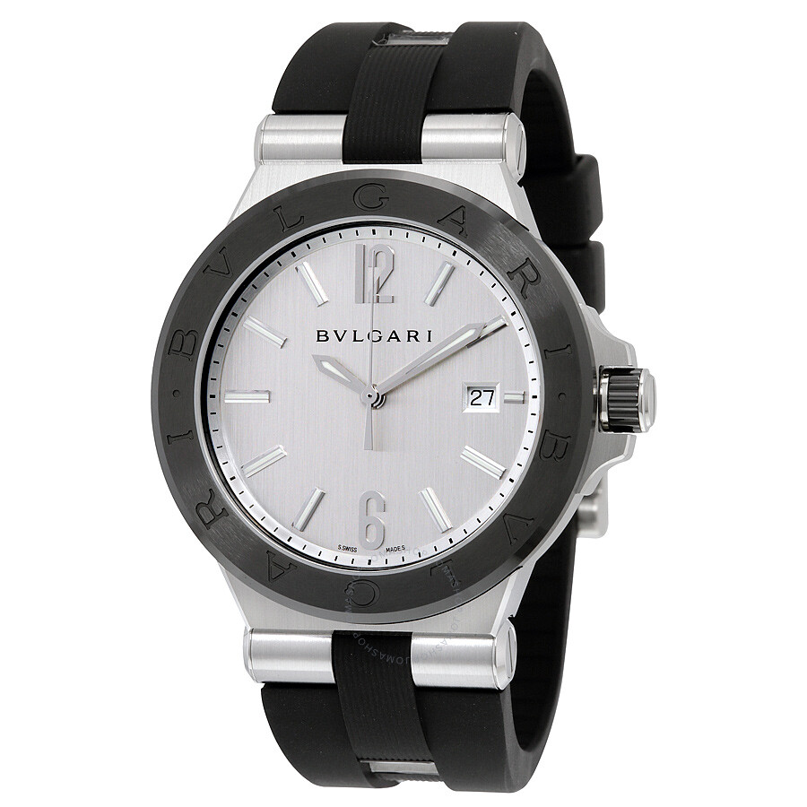 b8f995ff765 Bvlgari Diagono Silvered Dial Automatic Men s Watch