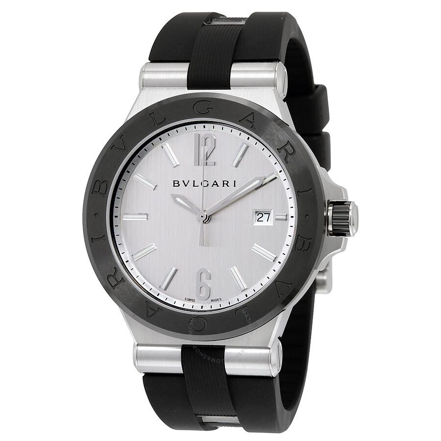 979beaa9812 Bvlgari Diagono Silvered Dial Automatic Men s Watch 102252 - Diagono ...