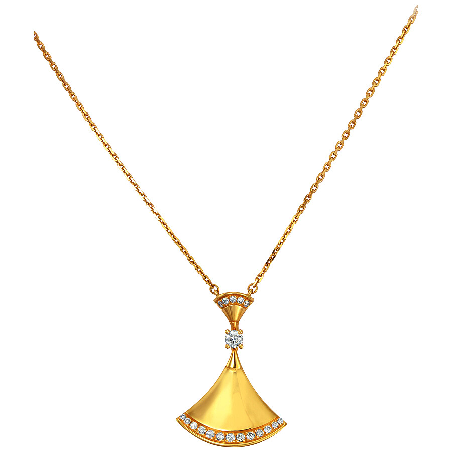 8ec6f60e93 Bvlgari Divas Dream 18K Yellow Gold Diamond Necklace Item No. 350074