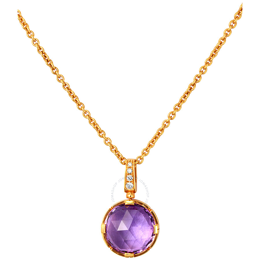 bvlgari parentesi 18k rose gold amethyst necklace move your mouse over image or click to enlarge