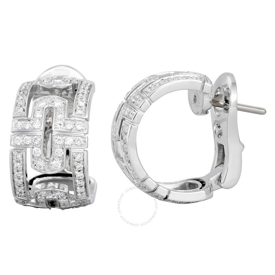 5193b8fd3 Bvlgari Parentesi 18K White Gold Loop Earrings 342169 - Bvlgari ...
