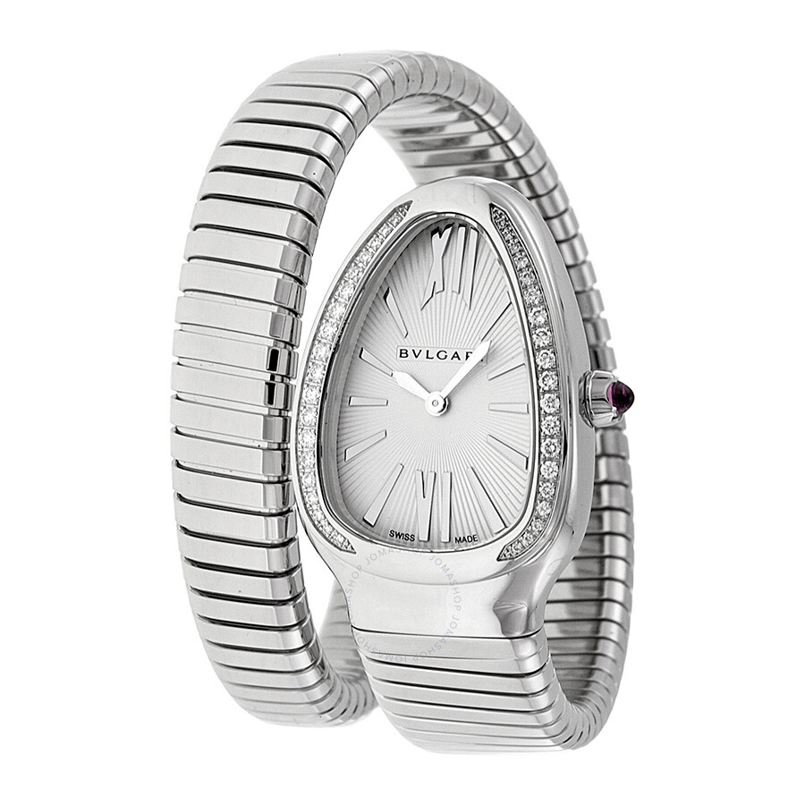 Bvlgari Serpenti Silver Dial Steel Bracelet Ladies Watch ...