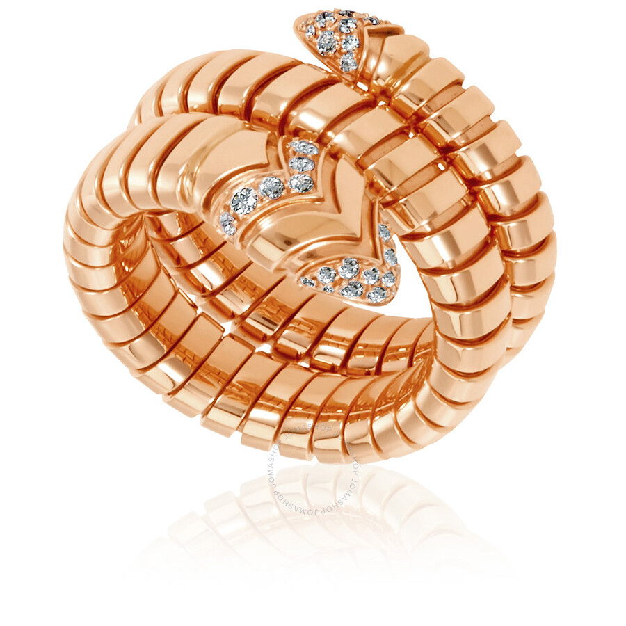 bvlgari serpenti tubogas 18k rose gold ring sizem 6 us move your mouse over image or click to enlarge