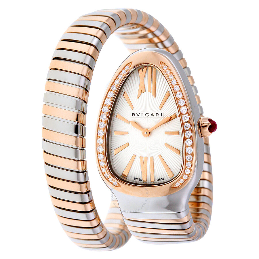 030e402972f Bvlgari Serpenti Tubogas Silver Opaline Dial Quartz Ladies Watch