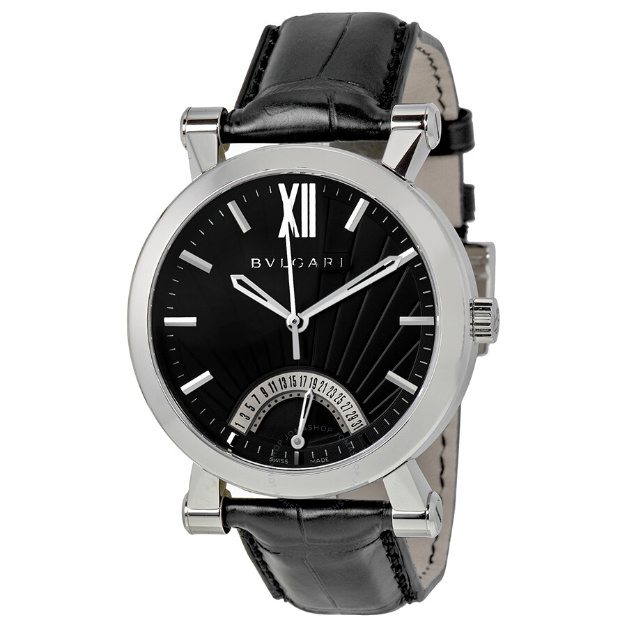 Bvlgari sotirio automatic retrograde date men 39 s watch sb42bsldr bvlgari watches jomashop for Bvlgari watches