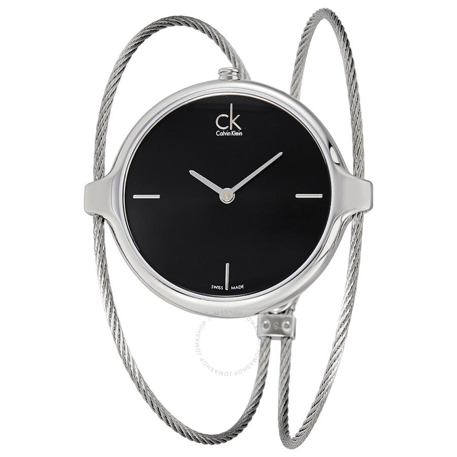 0a2c16c0279 Calvin Klein Agile Black Dial Bangle Ladies Watch K2Z2S111 - Calvin ...