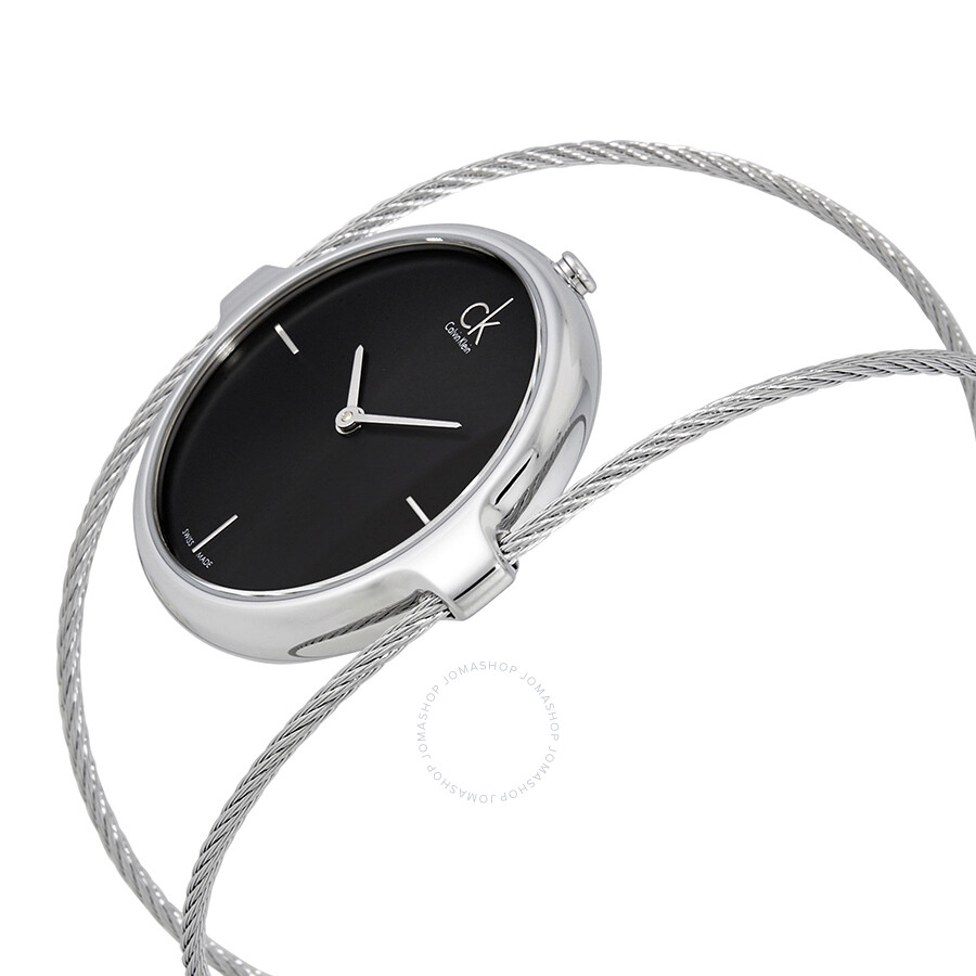 8699199a0dc Calvin Klein Agile Black Dial Ladies Bangle Watch K2Z2M111 - Calvin ...