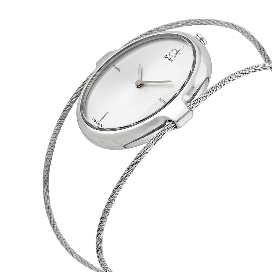 9776d0a3f3f Calvin Klein Agile Silver Dial Ladies Bangle Watch K2Z2M116 - Calvin ...