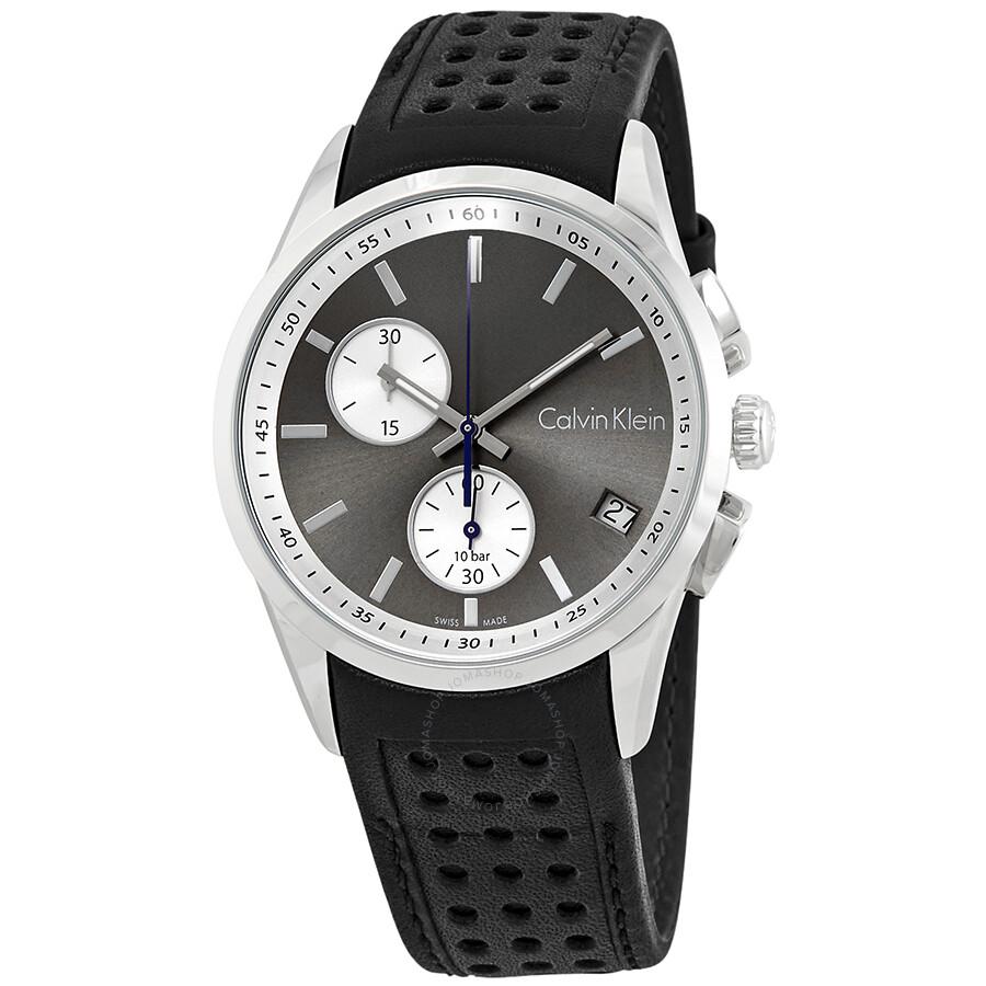 5bab160e8 Calvin Klein Bold Chronograph Anthracite Dial Men's Watch K5A371C3 ...