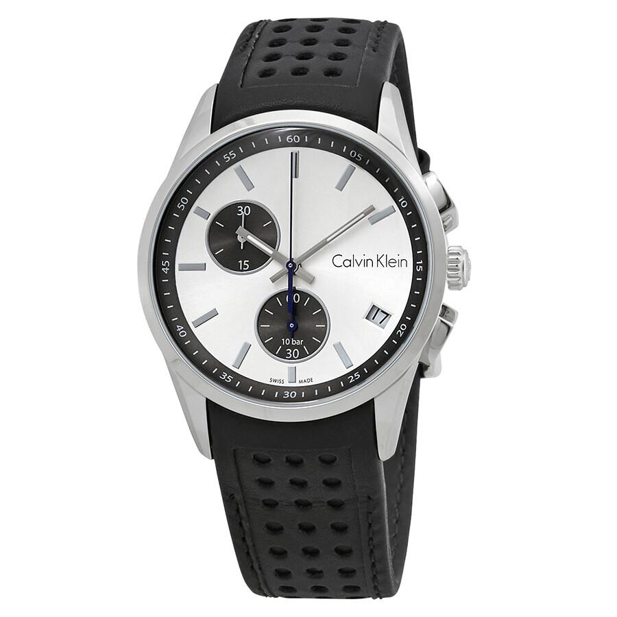 e2edc5398 Calvin Klein Bold Chronograph Silver Dial Men's Watch K5A371C6 ...