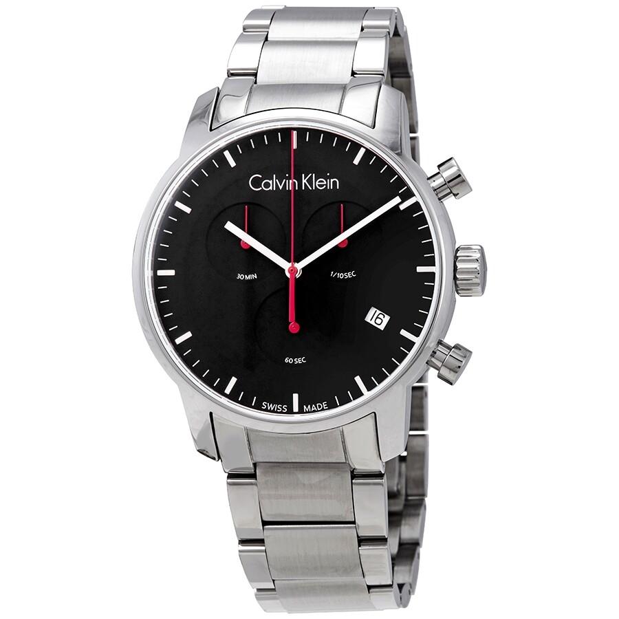 f18e09cbf Calvin Klein City Black Dial Stainless Steel Men's Watch K2G27141 ...