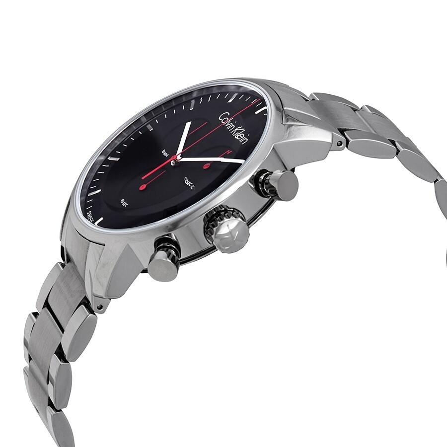 f9e1e8e15 ... Calvin Klein City Black Dial Stainless Steel Men's Watch K2G27141 ...