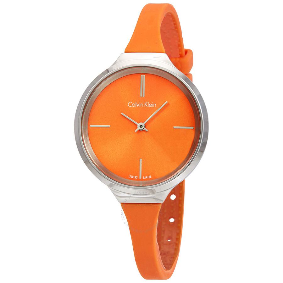 af23a19bd Calvin Klein Lively Orange Dial Ladies Watch K4U231YM - Calvin Klein ...