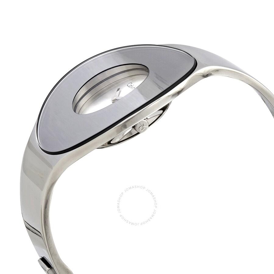 Seamless White Dial Small Bangle Ladies Watch K8C2S116