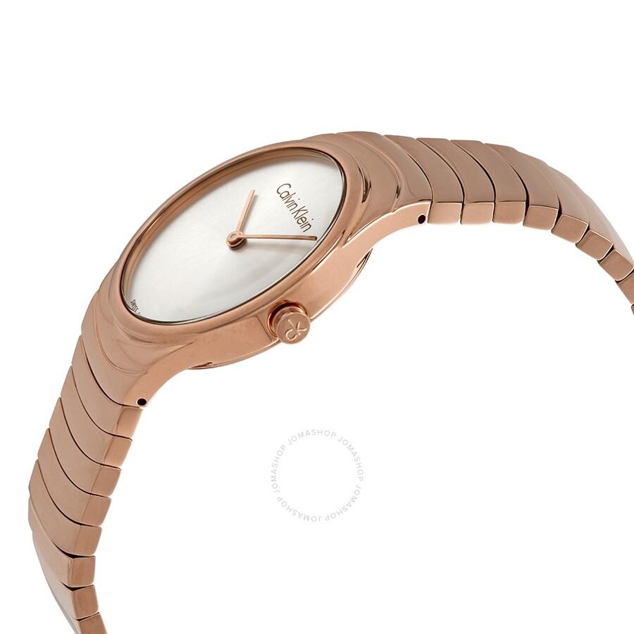 Whirl Quartz Silver Dial Rose Gold-tone Ladies Watch K8A23646
