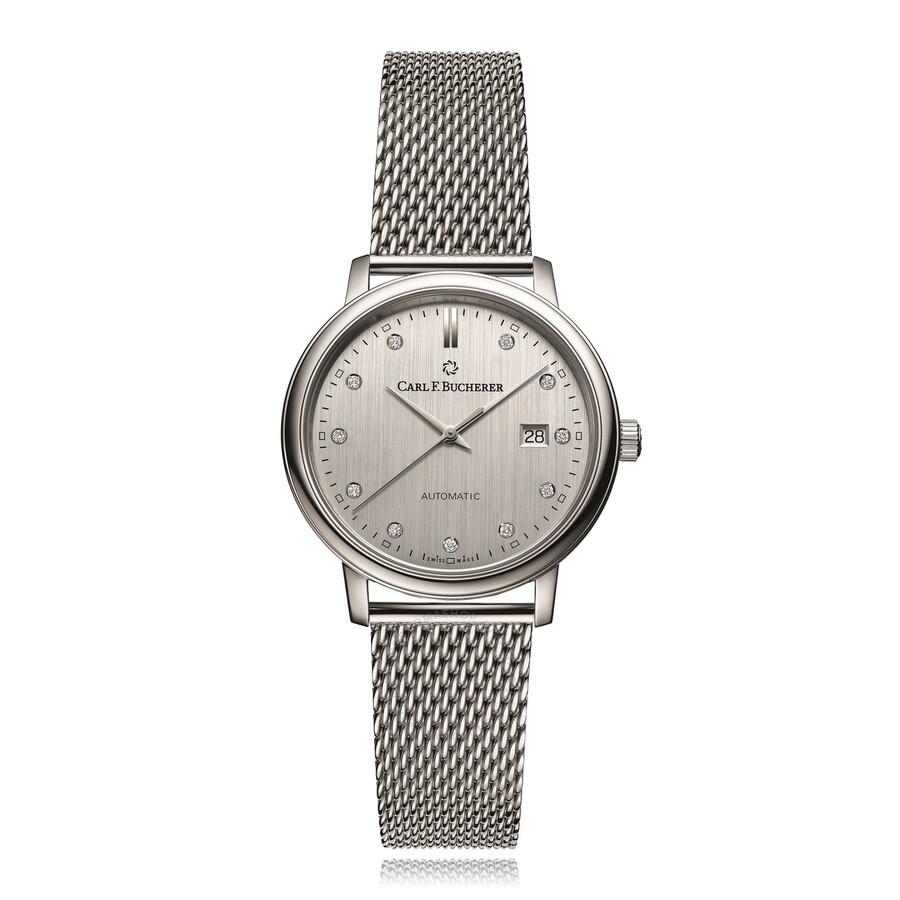 Adamavi Automatic Diamond Silver Dial Ladies Watch 00.10320.08.17.21