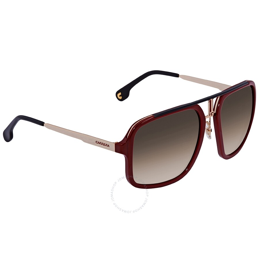 7482bdb1b048 Carrera Brown Gradient Rectangular Sunglasses CARRERA 1004/S AU2 57 ...