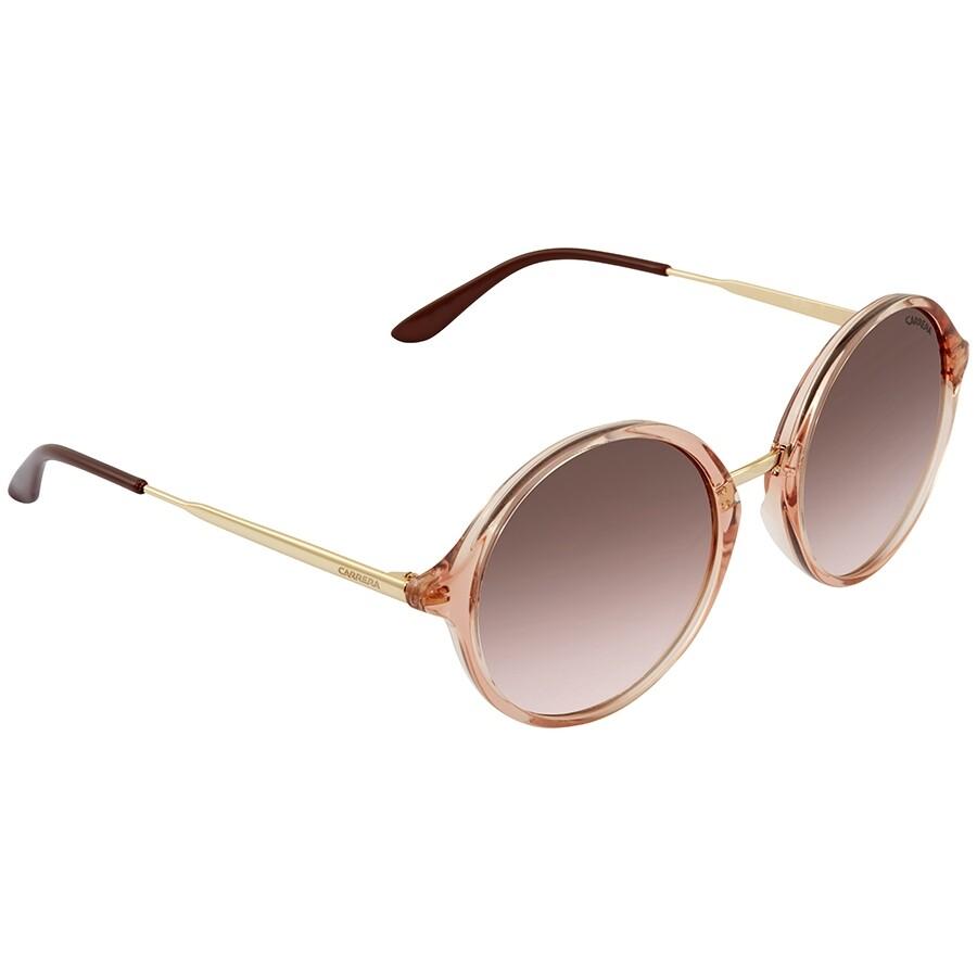 25e4291cc5b9 Carrera Brown Mirror Gold Round Ladies Sunglasses CARRERA 5031/S 0QW1 NH 52  ...