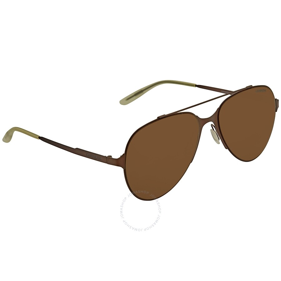 86f805e541 Carrera Brown YJ Aviator Men s Sunglasses CARRERA 113 S AQU 57 ...